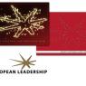 Logo for coachingvirksomheden European Leadership - og logoet brugt i to julekort