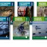 Omslag til lommebøger for Gyldendal i samarbejde med Danmarks Sportsfiskerforbund og Danmarks Jægerforbund