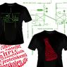 T-shirts fremstillet til uddannelserne til henholdsvis procesteknolog og laborant under CVU Øresund