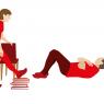 Parkinsonforeningen. Instruktionstegninger - fysioterapi.