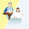 Telefonsamtale mellem patient og behandler.